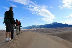 sand dunes hikers